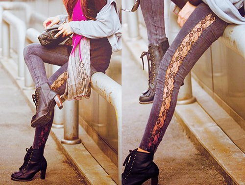asian, beautiful, boot, cute, fashion, flowery, girl, girly, heels, high heels, jeans, k-fashion, kfashion, korea, lomo, photography
