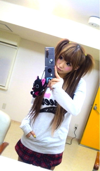 asian, cute, girl, gyaru, hikari shiina