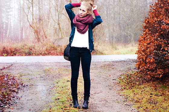 autumn, fashion, scarf