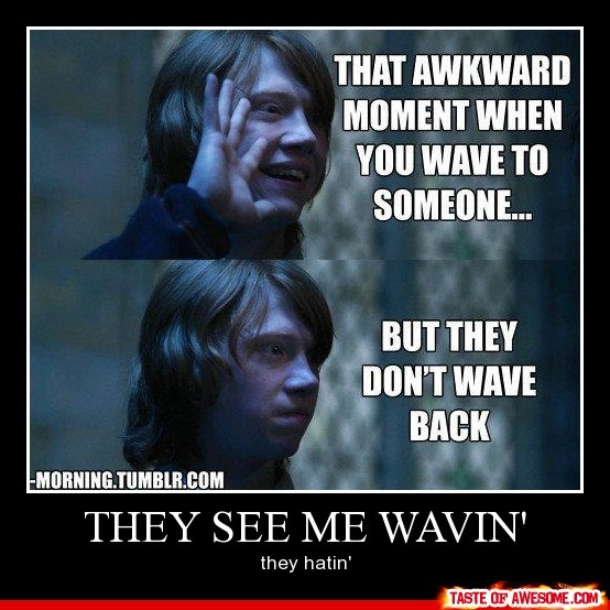 awesome, awkward, harry potter, hatin, moment