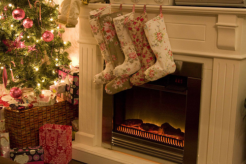 awesome, beautiful, carmine, cath kidston, christmas tree, feeling, lights, socks, tree, warm, xmas