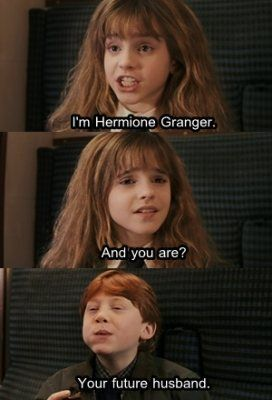 aww, couple, cute, harry potter, hermione