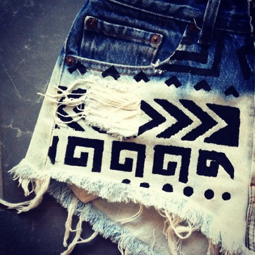 aztec, fashion, shorts