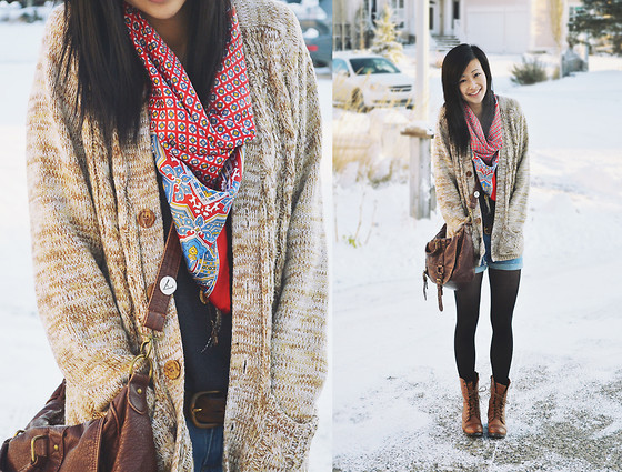 bag, boots, cardigans, cute winter, fashion