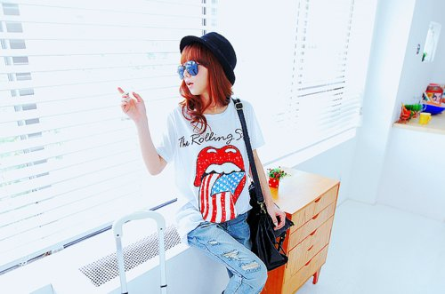 bag, bright, denim, fashion, girl