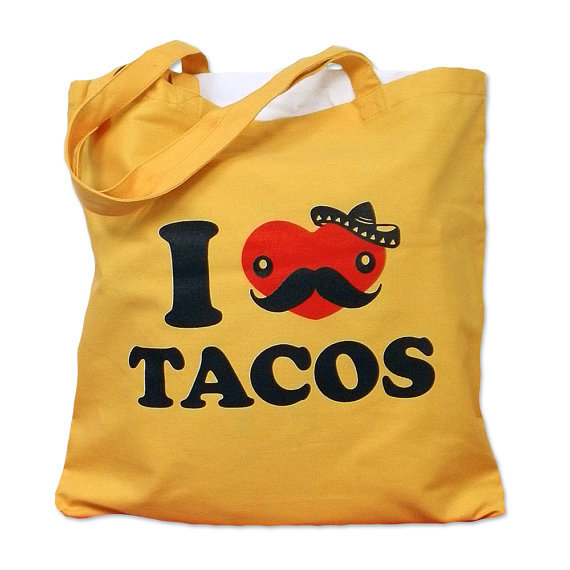 bag, love, mexican, tacos