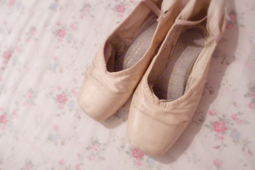ballerina, ballerinas, ballet, classy, cute, feet, flats, floral, flowers, girly, pink, rose, shoes, sweet