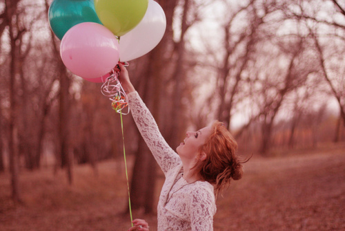 ballons, balloons, baloons, colors, colours, cute, happy, laugh, live, pink, smile, trees, woood