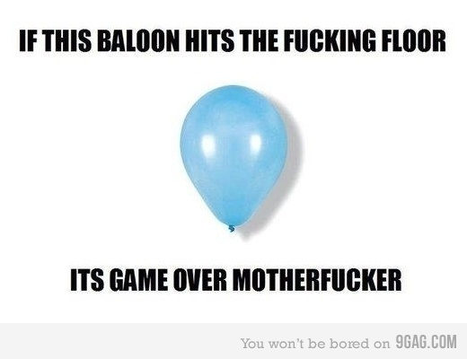 baloon, childhood, floor, funny, game