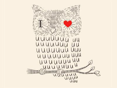b&w, black and white, cute, draw, for ever, hahah, heart, i <3 u, love, lovely, nice, owl, picture, pretty, red, simply, style, you