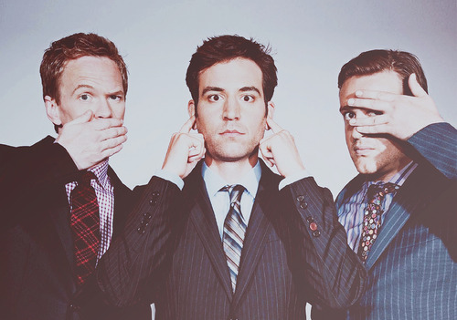 barney, barney stinson, himym, how i met your mother, marshall, neil patrick harris, ted moseby, tirilg