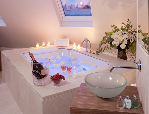 bath, bathroom, candles, design, house
