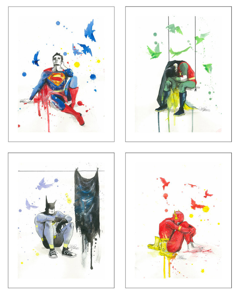 batman, cute, depressed, fighters, flash