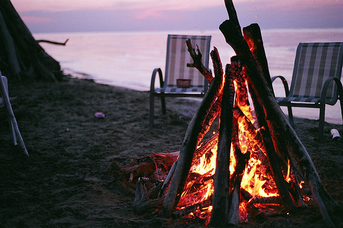 beach, beautiful, campfire, fire, sand