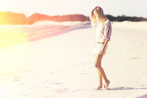 beach, blonde, cool, cute, fashion, girl, good, makeup, model, ocean, photo, pretty, sand, sexy, shorts, style, vintage