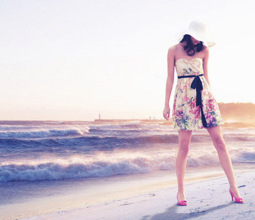 beach, cool, cute, dress, fashion