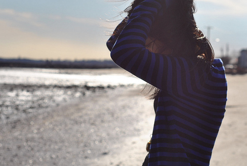 beach, girl, hair, photgraphy, pretty, sadness, winter