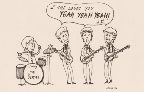 beatles, beautiful, draw, love, others, text, the beatles