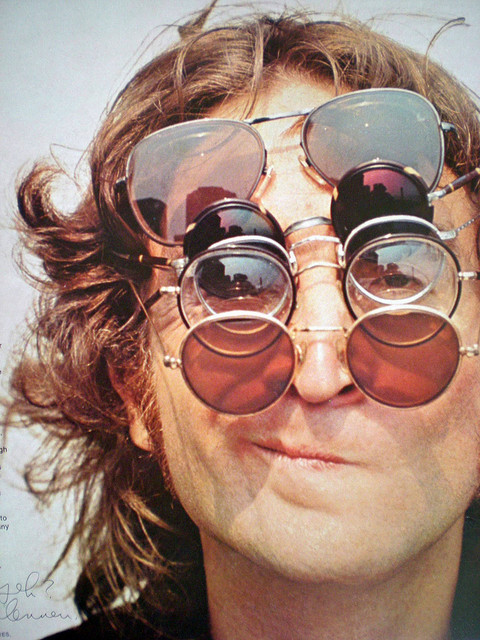 beatles, glasses, john lennon, oculos