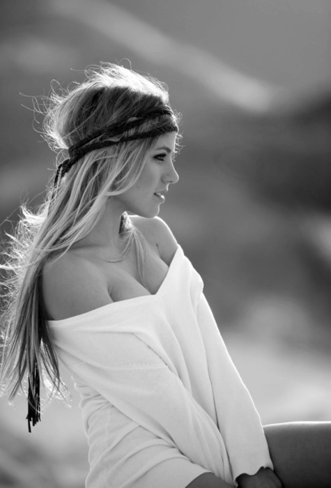 beautiful, beauty, black and white, blonde, boheme