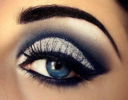 beautiful, black, blue, blue eyes, eyes, glitter, love, makeup, perfect, pretty, silver, veronika vapaus, white, wow