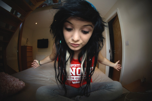 beautiful, black hair, brunette, cute, eyefish, girl, hair, hair style, hairstyle, nose piercing, nose ring, piercing, pretty, scene
