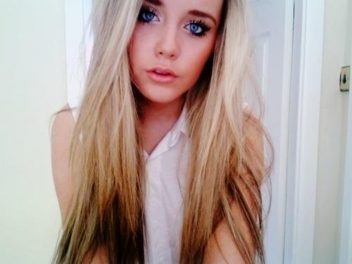 beautiful, blonde, cool, eyes, girl