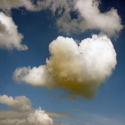 beautiful, blue, cloud, heart, love