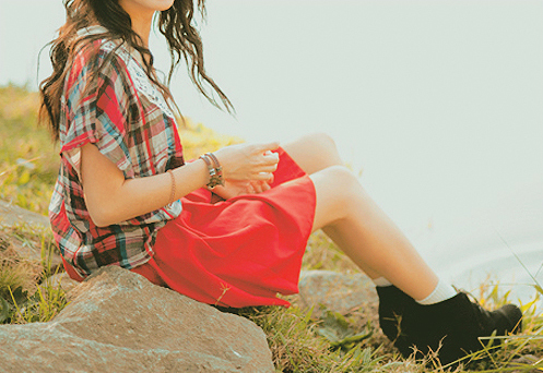 beautiful, boots, chic, clothes, cute, elegant, fashion, girl, kfashion, korean fashion, pretty, red, shoes, skirt, ulzzang
