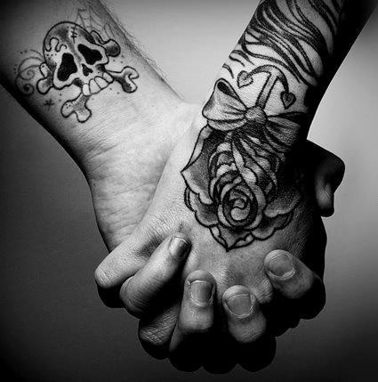 beautiful, boy, cute, girl, hand, lack, nice, photo, photography, sweet, tatoo, tattoo, white