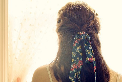 beautiful, braid, cute, fashion, girl, hair, photography, ribbon