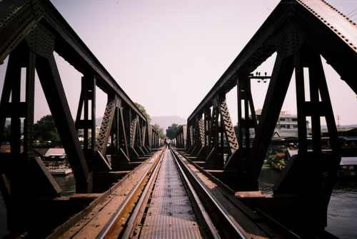 beautiful, bridge, hipster, indie, photo, photography, railway, river, sun, water