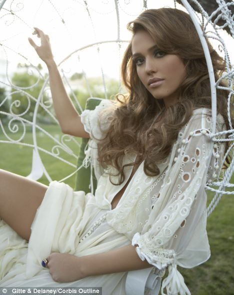 beautiful, brunette, chair, dress, face, fashion, jessica alba, lace, natural beauty, pretty, romantic, white, white dress, woman