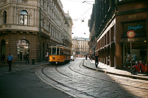 beautiful, city, milan, milano, people, photo, photography, tram