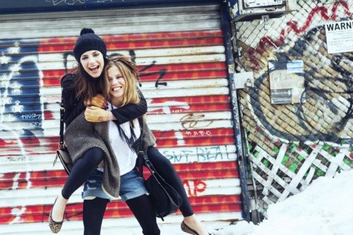 beautiful, clothes, fashion, friends, girls, models, winter