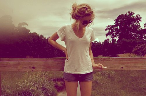 beautiful, clothes, girl, glasses, hair