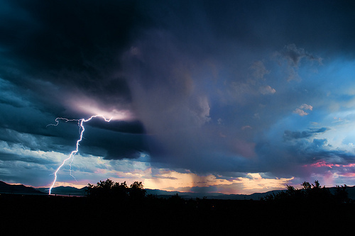 beautiful, clouds, lightning, nature, photo