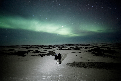 beautiful, light, northern lights, people, photo