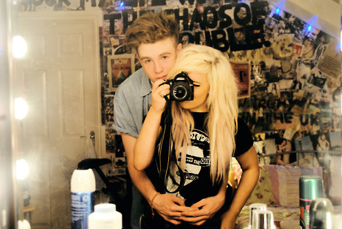 bedroom, blond, blonde, boy, camera, couple, cute, girl, guy, hug, love, photography, pic, pics, scene