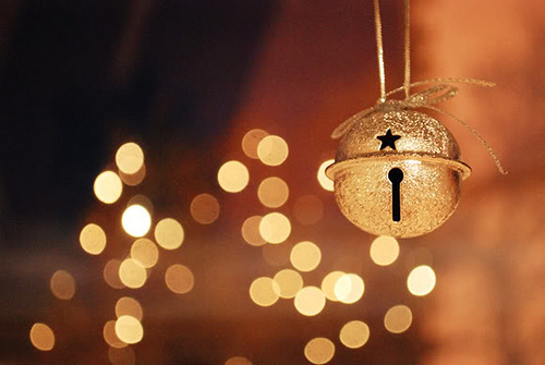bell, bokeh, christmas, lights, lovely