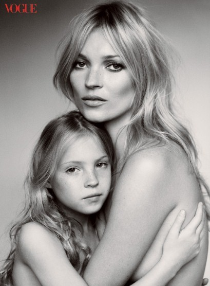black and white, blonde, child, daughter, family, inspiiration, kate, kate moss, mario testino, mother, photography, vogue