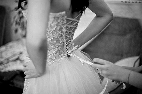 black and white, corset, dress and girl