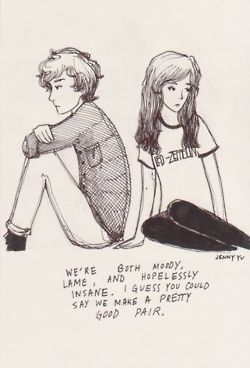 black and white, couple, cute, drawing, led zeppelin