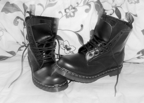 black and white, doc martens, doccys, docs, dr martens