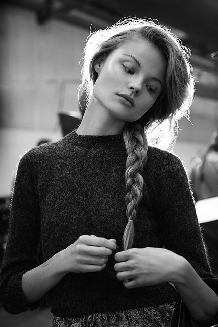 black and white, fashion, hair, magdalena frackowiak, model