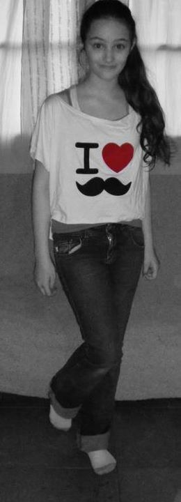 black and white, girl, hair, heart, i love moustache
