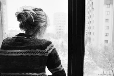 black and withe, girl, window