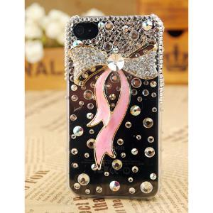black, bow, case, glitter, iphone