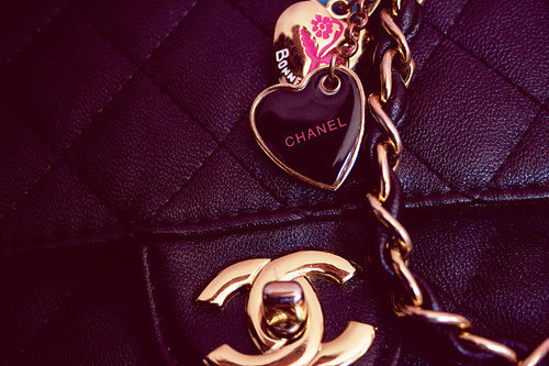 black, chanel, fashion, girly, gold, heart