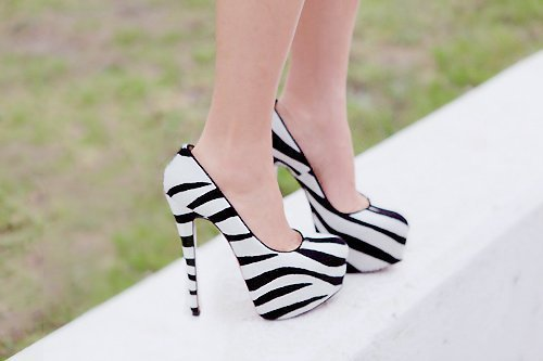 black, design, fashion, heels, high heels, pumps, sexy, shoes, white, zebra